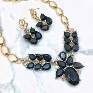 Cherryl's Jewelry - Black and Gold Statement Necklace Set